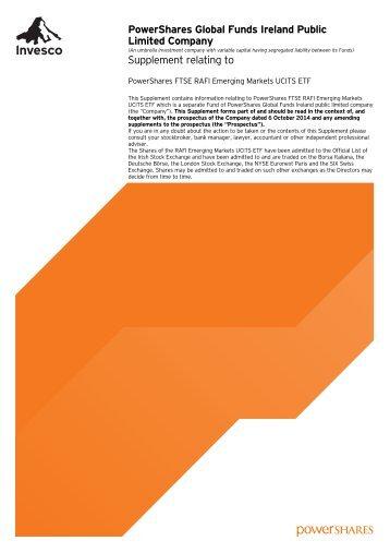 MANAGER Invesco Global Asset Management Limited ...