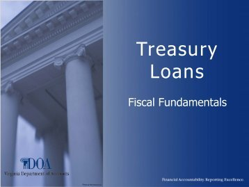 Treasury Loans - Virginia Department of Accounts - Commonwealth ...