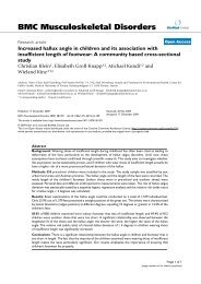 Increased hallux angle in children and its association with ...