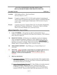 Board Meeting minutes 11/10/2011 - Kings Point