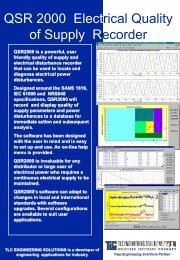 QSR 2000 - Electrical Power Quality Monitoring System - TLC ...