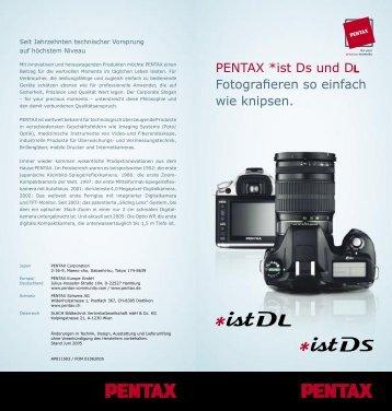 PENTAX *ist Ds und DL Fotografieren so einfach - Schmickis Pentax ...