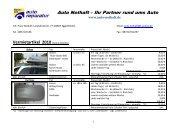 1 Woche (Sa – Sa) – Abholung Fr bis 12.00 Uhr - Auto Nothaft