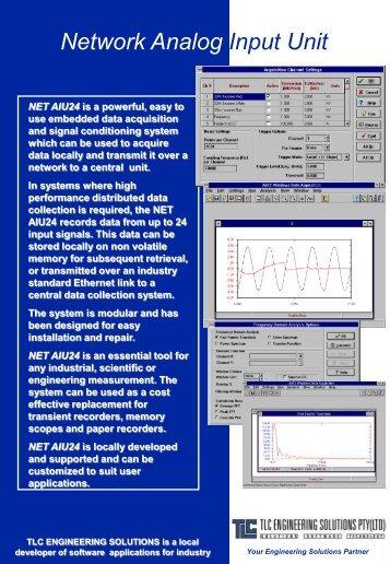 NETAIU - Network Analog Interface (pdf download 550kb) - TLC ...