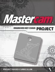 Engraved Keychain Project Sample - eMastercam