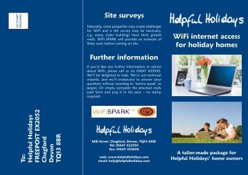 WiFi Leaflet - Helpful Holidays