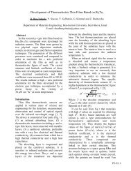 Development of thermoelectric thin films based on Bi 2 ... - ECT2008