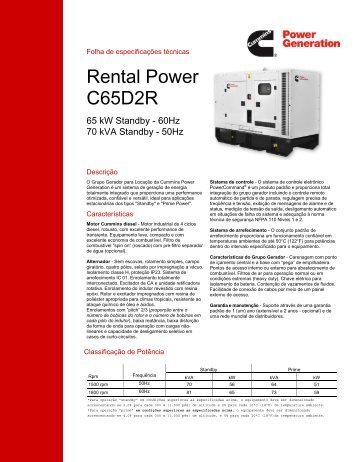Rental Power C65D2R - Cummins Power Generation