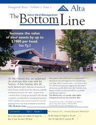 The Bottom Line. - Alta Genetics Inc