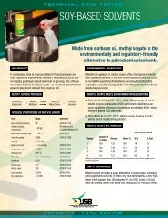 SOY-BASED SOLVENTS - Soy New Uses