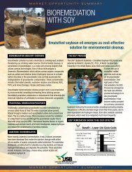 BIOREMEDIATION WITH SOY - Soy New Uses