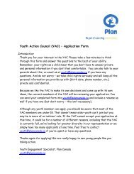 Youth Action Council (YAC) – Application Form - Plan Canada