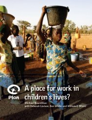 A place for work in children's lives? - Plan Canada