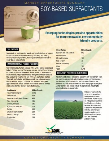 SOY-BASED SURFACTANTS - Soy New Uses
