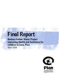 Final Report - Plan Canada