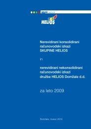 za leto 2009 - Helios Group