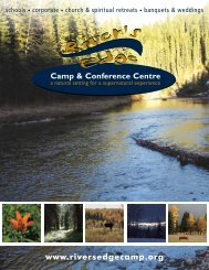 Guest Group Brochure - River's Edge Camp & Conference Centre