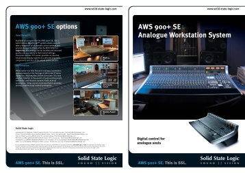 AWS 900+ SE Analogue Workstation System - Duncan Pro Audio