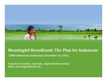 Meaningful Broadband: The Plan for Indonesia