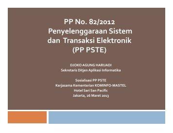 Sosialisasi PP PSTE - Masyarakat Telematika Indonesia