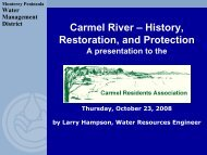 carmel river history, restoration, protection - Monterey Peninsula ...