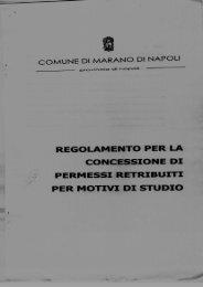 regolamento per la - Comune di Marano di Napoli