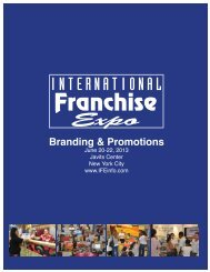 Promotional Opportunities - International Franchise Expo