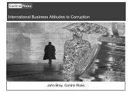 International Business Attitudes to Corruption - Haskayne School of ...