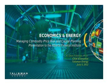 Download Dean Foreman's conference presentation - Haskayne ...