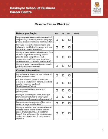resume critique checklist resumes normally get less than a 15