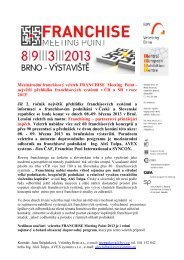 FMP 2013 - tisková zpráva 150213 - Česká asociace franchisingu