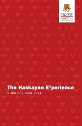 Download our Strategic Plan - Haskayne School of Business