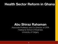 Health Sector Reform in Ghana - Haskayne School of Business ...