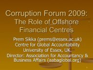 Corruption Forum 2009: The Role of Offshore Financial Centres