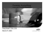 Forensic Accounting: - Haskayne School of Business