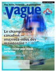 Fun, forme, fraternité… et participation - Masters Swimming Canada