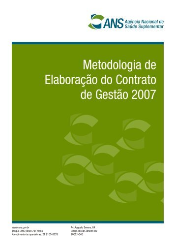 Metodologia de Elaboração do Contrato de Gestão 2007 - Ans