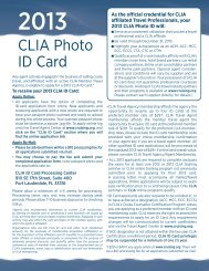 application for a 2013 CLIA photo ID card - Clia Academy