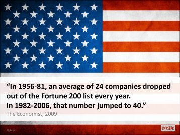 """""""In 1956-81, an average of 24 companies dropped out of the Fortune ..."""