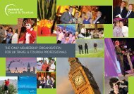 the only membership organisation for uk travel & tourism professionals