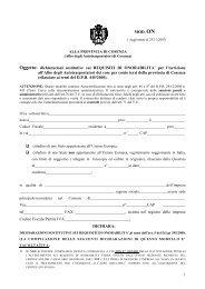 dichiarazioni sostitutive sui REQUISITI DI ONORABILITA