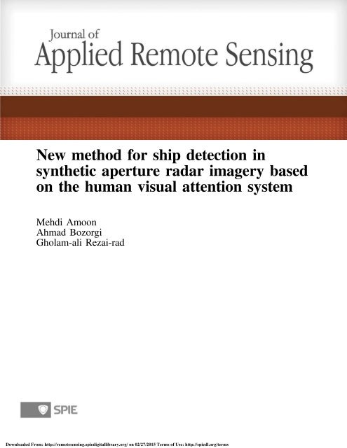 Download the PDF - Journal of Applied Remote Sensing