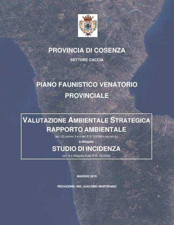 VAS - Provincia di Cosenza