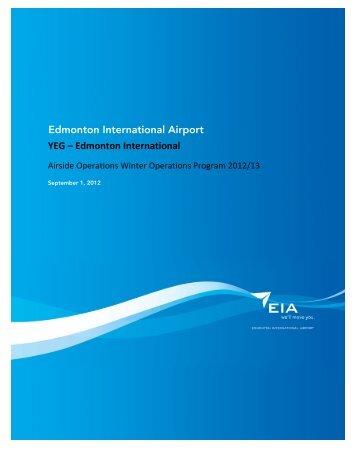 YEG – Edmonton International Edmonton International Airport