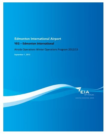 YEG – Edmonton International Edmonton International Airport