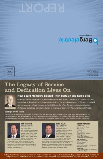 The Legacy of Service and Dedication Lives On - Bergelectric