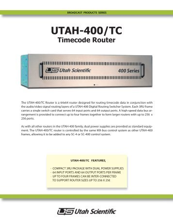 UTAH-400/TC - Utah Scientific