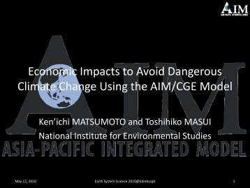 Economic Impacts to Avoid Dangerous Climate Change ... - QUEST