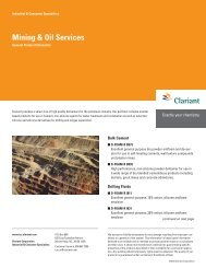 Mining & Oil Services - Clariant