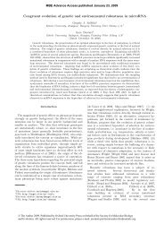 Congruent evolution of genetic and environmental robustness in ...